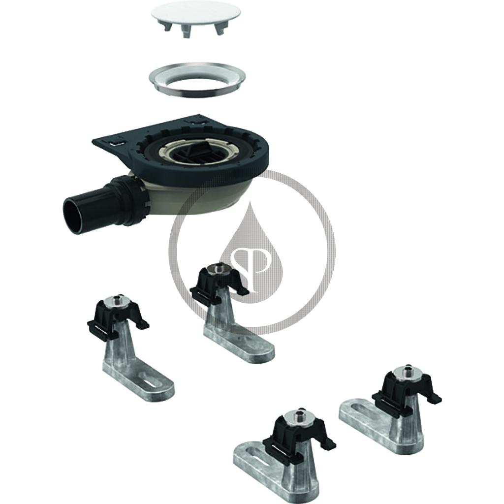 GEBERIT - Setaplano Sprchová odpadní souprava se 4 patkami, pro sprchovou vaničku Setaplano, výška vodního uzávěru 30 mm (154.020.00.1)