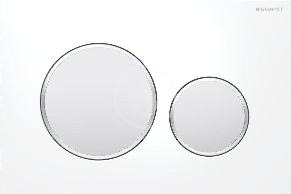 GEBERIT - Sigma20 Ovládací tlačítko Sigma20, bílá/chrom mat (115.882.KL.1)