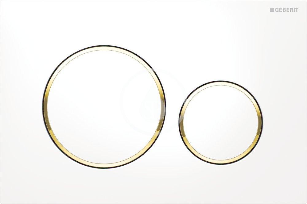 GEBERIT - Sigma20 Ovládací tlačítko Sigma20, bílá/pozlacená (115.882.KK.1)