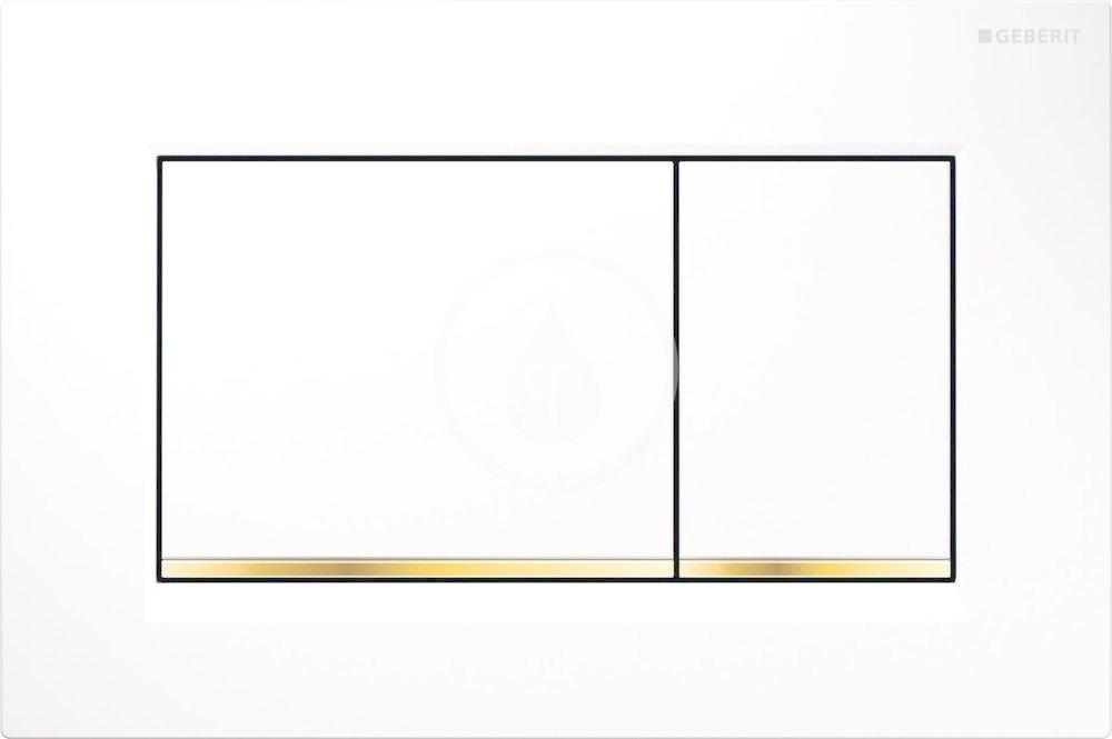GEBERIT - Sigma30 Ovládací tlačítko Sigma30, bílá/pozlacená (115.883.KK.1)