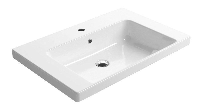 GSI - NORM keramické umyvadlo 75x18x50 cm, bílá ExtraGlaze (8687111)