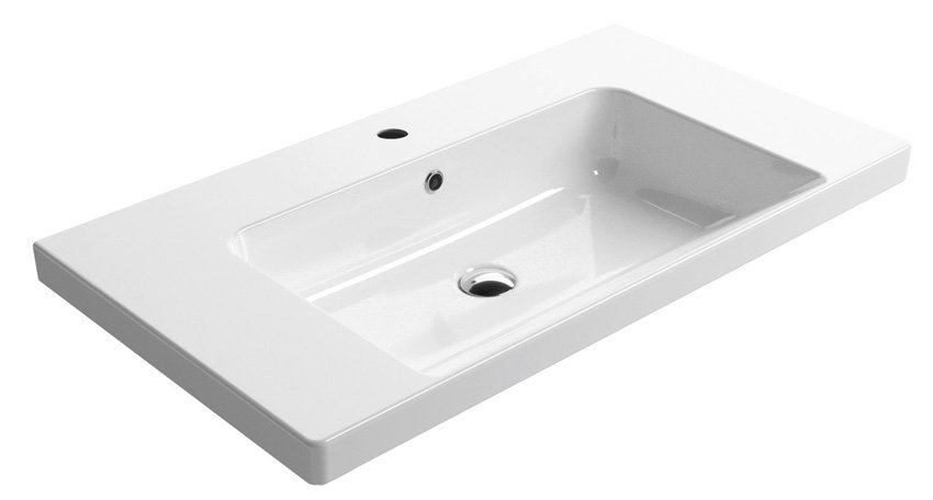 GSI - NORM keramické umyvadlo 90x18x50 cm, bílá ExtraGlaze (8688111)