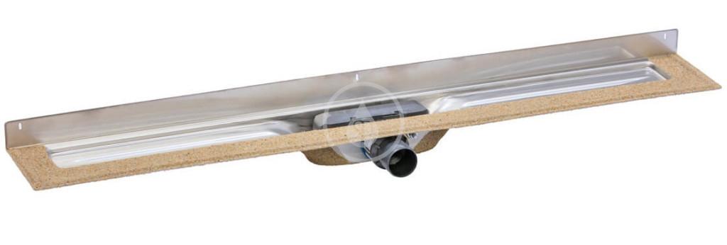 I-Drain - Chape 54 Nerezový sprchový žlab M, pro délku roštu 600 mm, ke stěně (ID4ZSM06001X1)