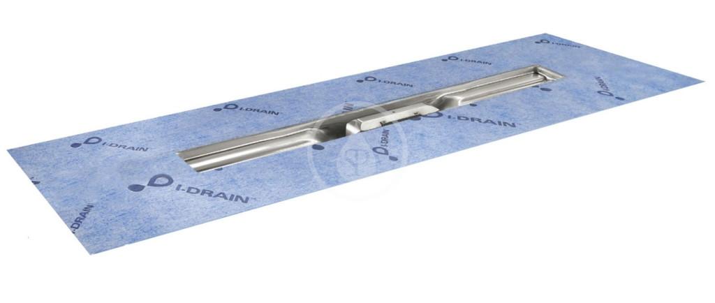 I-Drain - Linear 54 Nerezový sprchový žlab, délka 600 mm, s hydroizolací (ID4M06001X1)