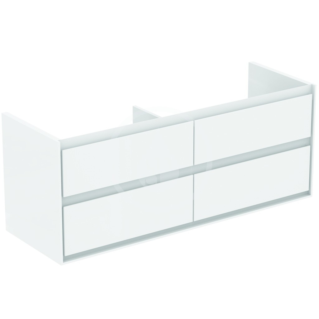 IDEAL STANDARD - Connect Air Skříňka pod dvojumyvadlo, 1300x440x517 mm, lesklá bílá/světlá šedá mat (E0824KN)