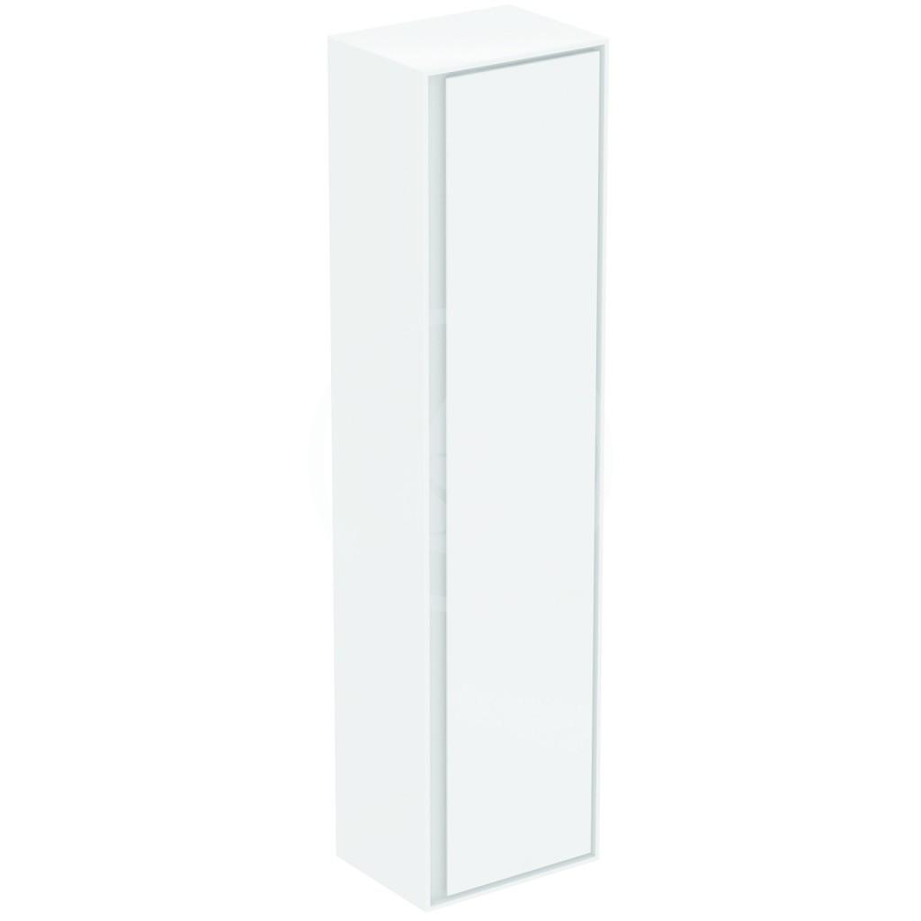 IDEAL STANDARD - Connect Air Vysoká skříňka 400x300x1600 mm, lesklá bílá/světlá šedá mat (E0832KN)