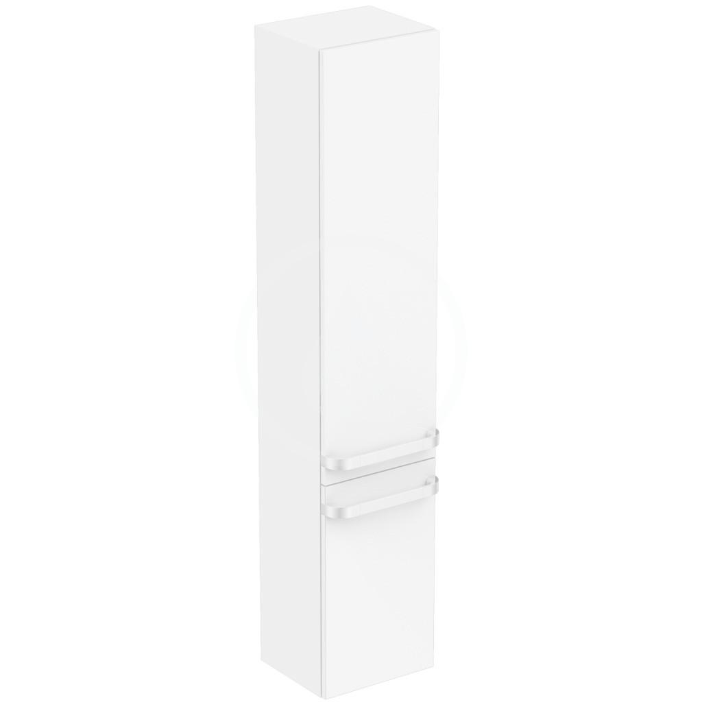 IDEAL STANDARD - Tonic II Vysoká skříňka 350x300x1735 mm, levá, lesklá bílá (R4319WG)