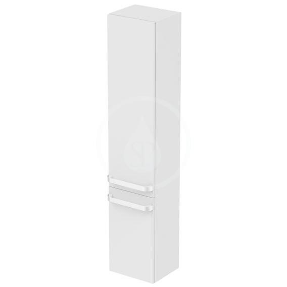 IDEAL STANDARD - Tonic II Vysoká skříňka 350x300x1735 mm, levá, lesklá světle šedá (R4319FA)