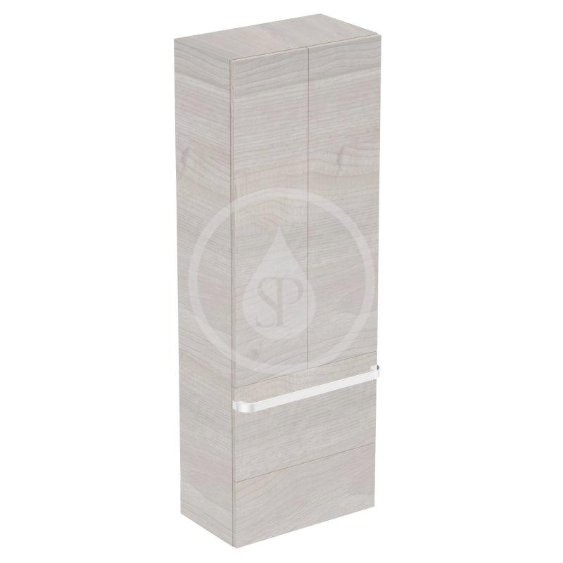 IDEAL STANDARD - Tonic II Vysoká skříňka 600x350x1735 mm, světle šedý dub (R4316FE)