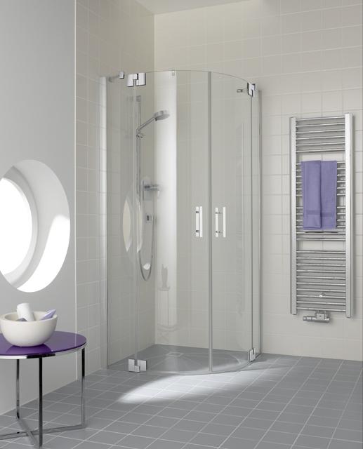 Kermi Čtvrtkruh Filia XP P50 09020 875-900/2000 stříbrná vys.lesk ESG čiré Clean Čtvrtkruhový sprch. kout kyvné dveře s pevnými poli (FXP5009020VPK)