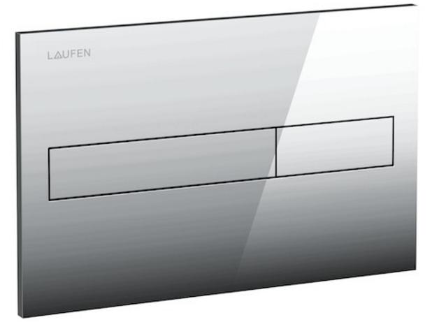 Laufen - Splachovací tlačítko AW1, Dual Flush - lesklý chrom plast (Splachovací tlačítko AW1, Dual Flush - lesklý chrom plast (H8956610040001))