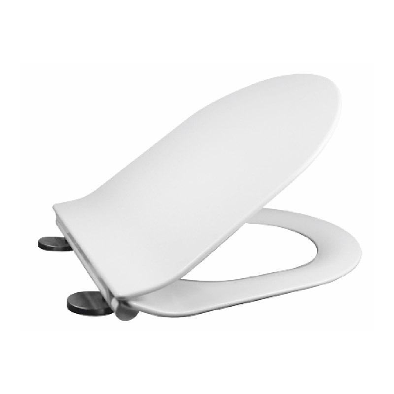 MEREO - Samozavírací WC sedátko slim, duroplast, bílé, s odnímatelnými panty CLICK (CSS116)