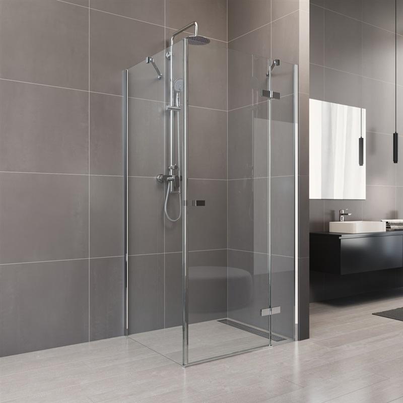 MEREO - Sprchový kout, Novea, obdélník, 100x120 cm, chrom ALU, sklo Čiré, dveře pravé a pevný díl (CK10317ZP)