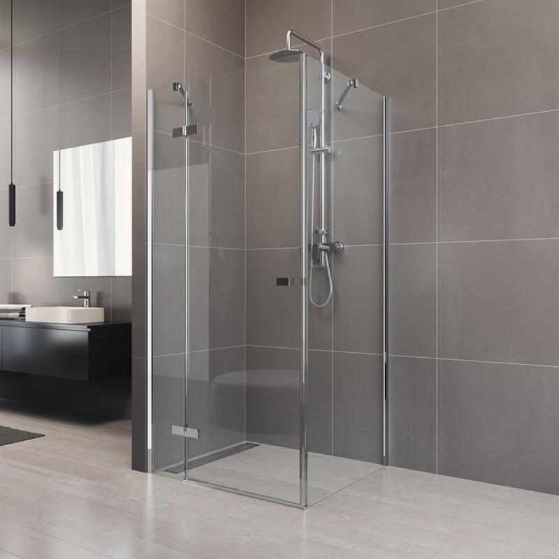MEREO - Sprchový kout, Novea, obdélník, 110x80 cm, chrom ALU, sklo Čiré, dveře levé a pevný díl (CK10514ZL)