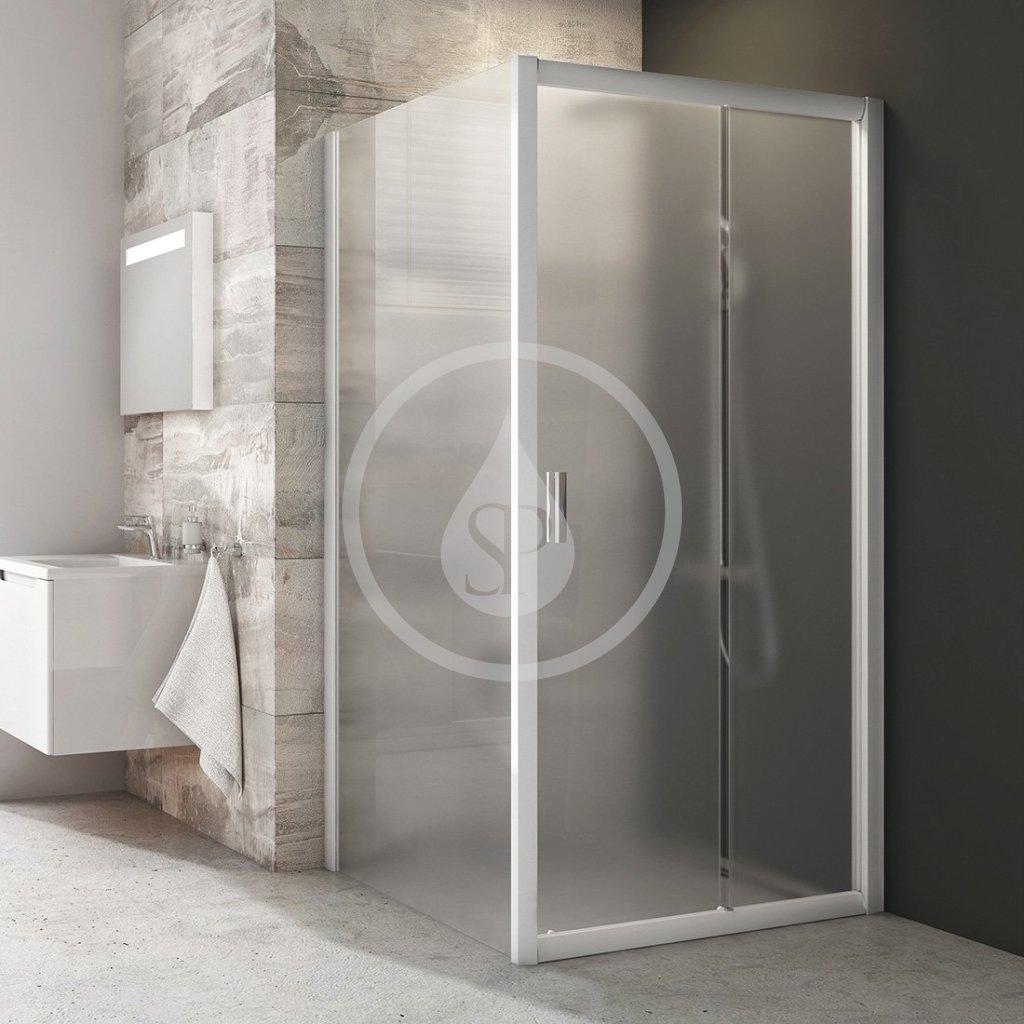 RAVAK - Blix Sprchová stěna BLPS-90, 870-890 mm, bílá/sklo Grape (9BH70100ZG)