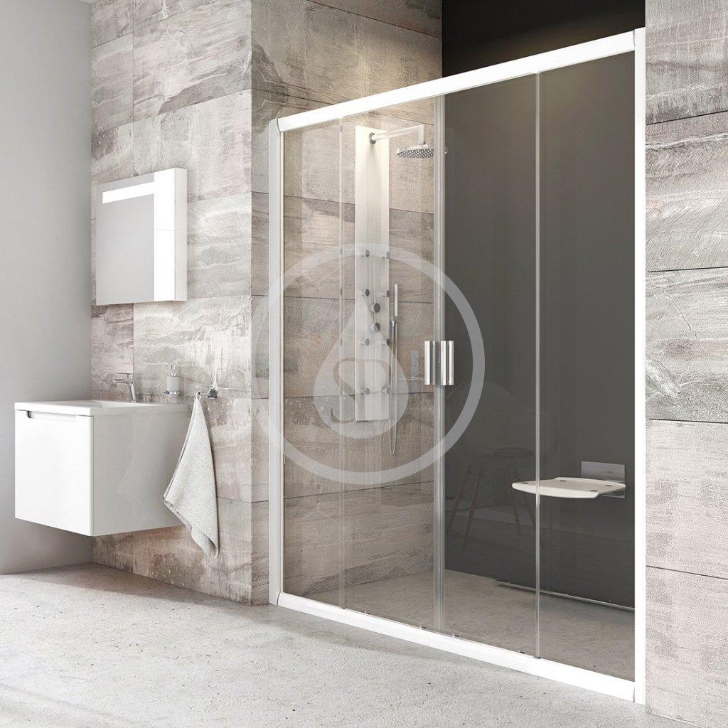 RAVAK - Blix Sprchové dveře čtyřdílné BLDP4-170, 1670-1710 mm, bílá/čiré sklo (0YVV0100Z1)