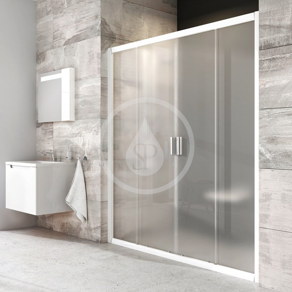 RAVAK - Blix Sprchové dveře čtyřdílné BLDP4-170, 1670-1710 mm, bílá/sklo Grape (0YVV0100ZG)