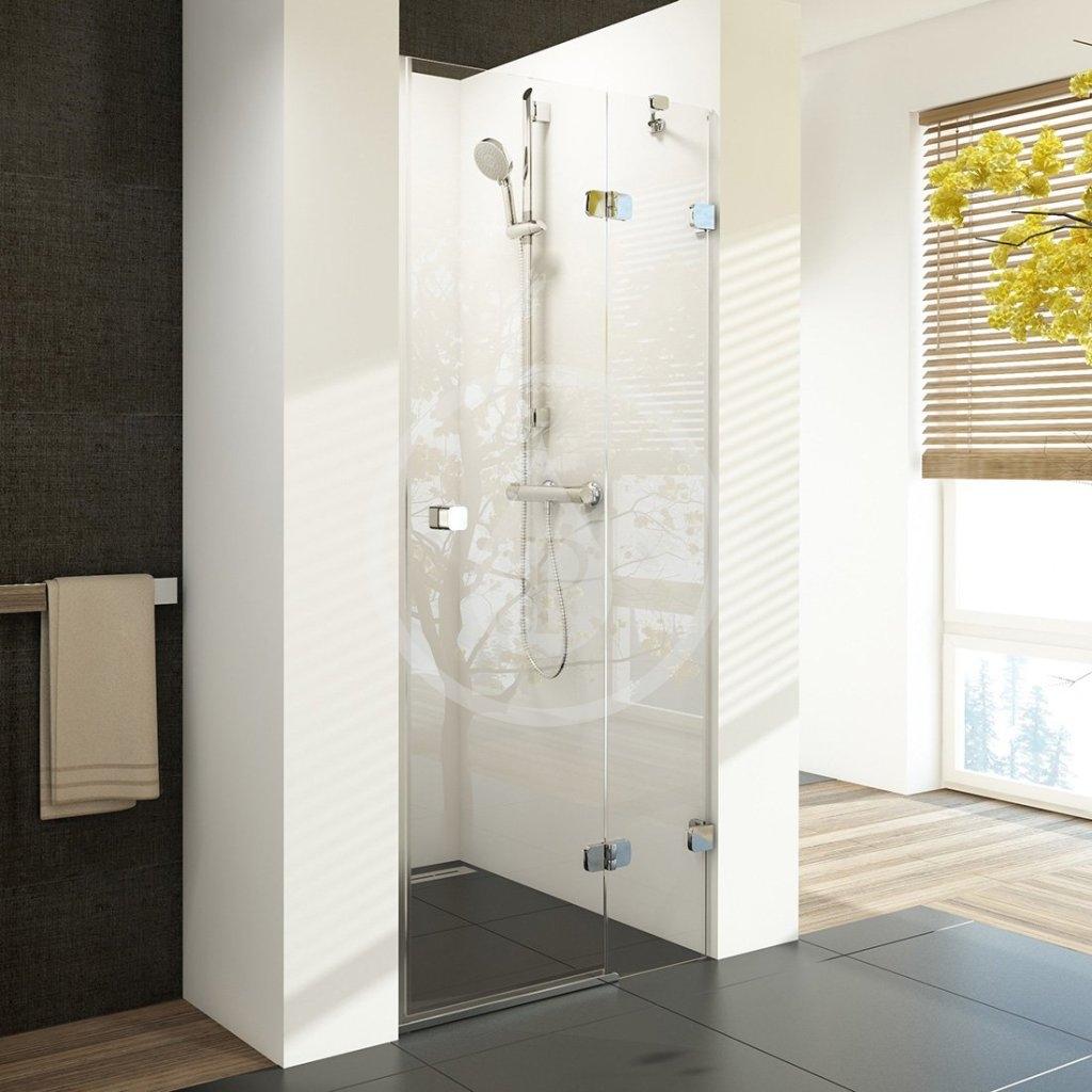 RAVAK - Brilliant Sprchové dveře dvoudílné BSD2-80 R, 790-805 mm, pravé, chrom/čiré sklo (0UP4AA00Z1)