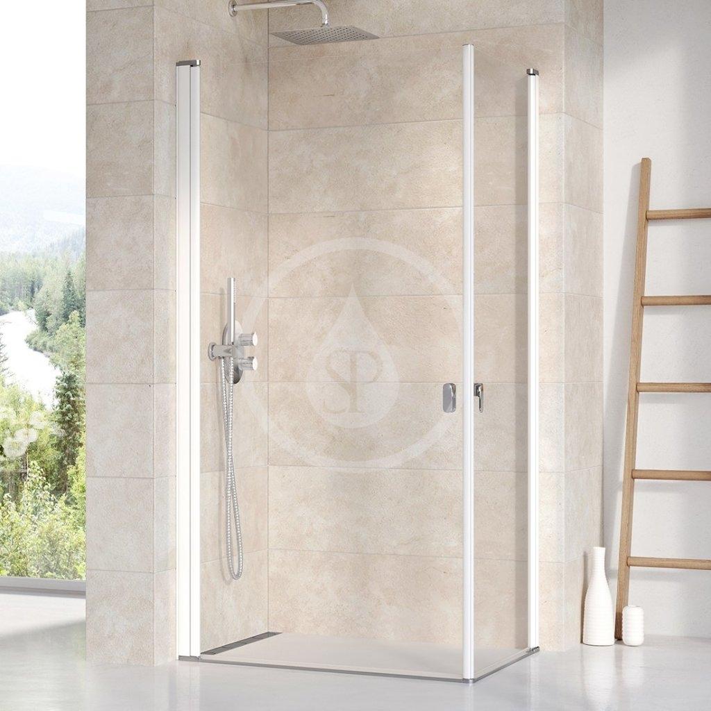 RAVAK - Chrome Sprchové dveře CRV1-100, 980-1000 mm, bílá/čiré sklo (1QVA0101Z1)