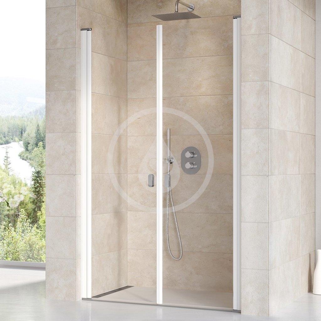 RAVAK - Chrome Sprchové dveře dvoukřídlé CSDL2-110, 1075-1105 mm, bílá/čiré sklo (0QVDC10LZ1)