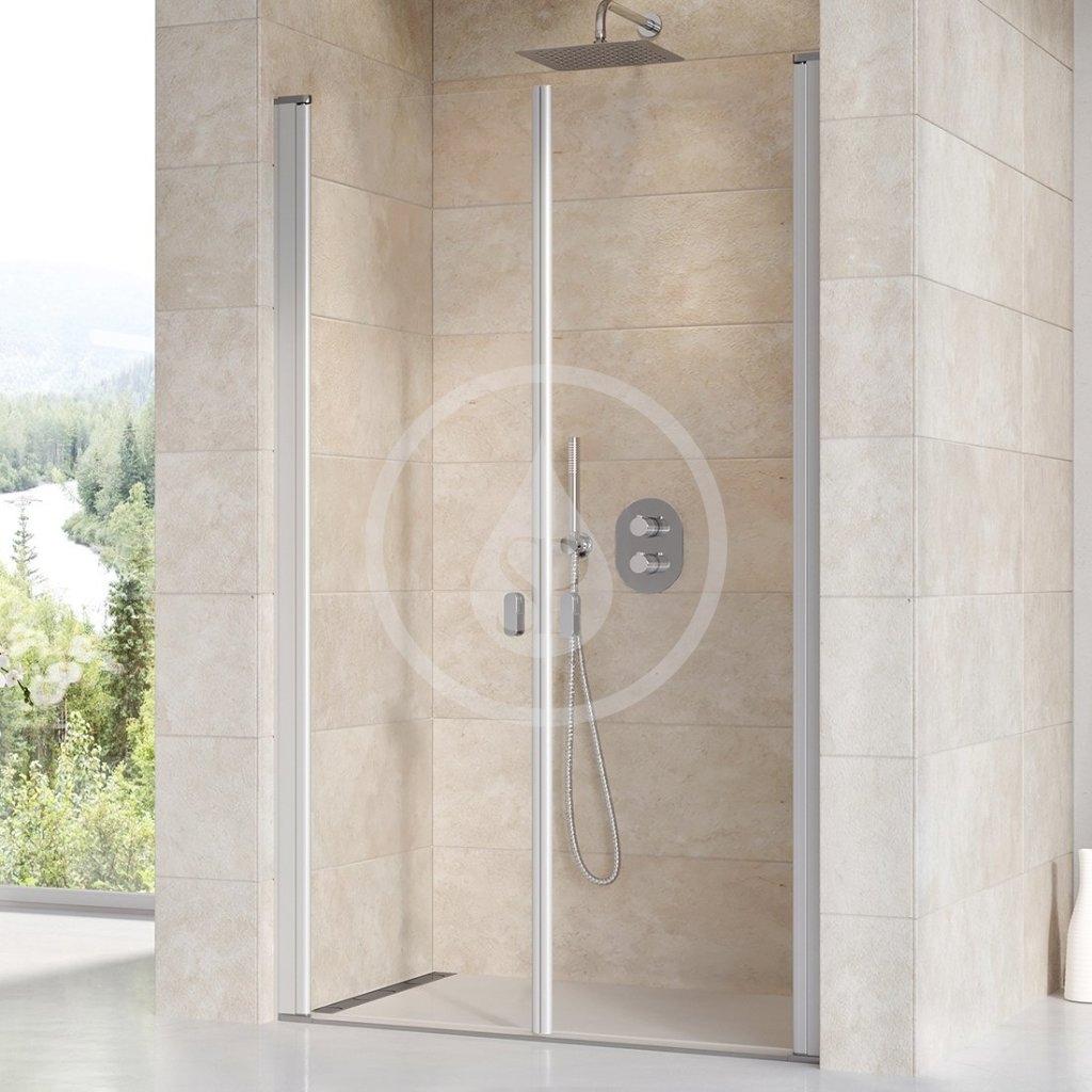 RAVAK - Chrome Sprchové dveře dvoukřídlé CSDL2-90, 875-905 mm, satin/čiré sklo (0QV7CU0LZ1)