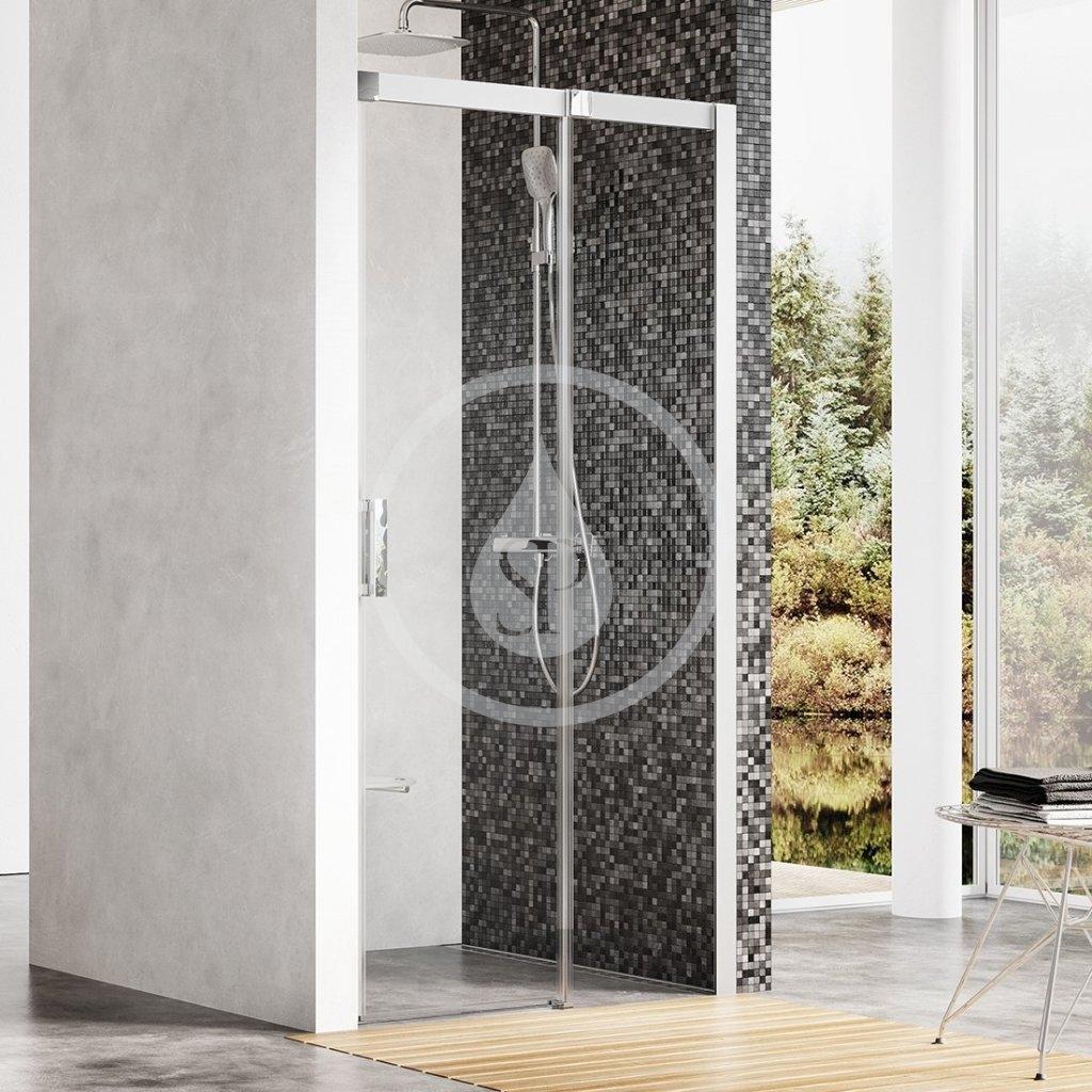 RAVAK - Matrix Sprchové dveře dvoudílné MSD2-120 R, 1175-1215 mm, satin/čiré sklo (0WPG0U00Z1)