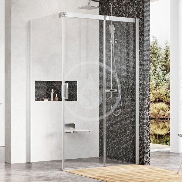 RAVAK - Matrix Sprchový kout třídílný MSDPS-100/100 L, 985-1005 mm, lesklý hliník/čiré sklo (0WLAAC00Z1)