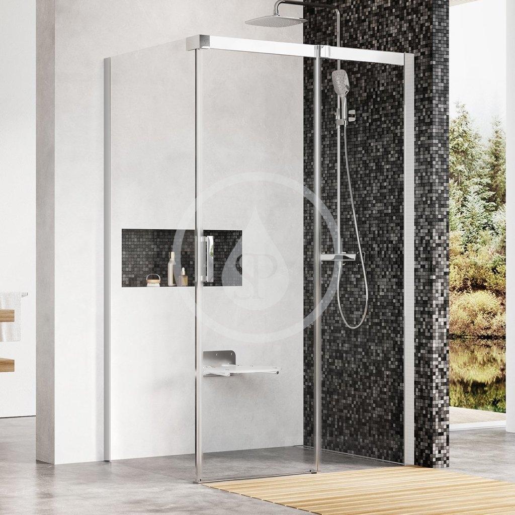 RAVAK - Matrix Sprchový kout třídílný MSDPS-100/100 R, 985-1005 mm, lesklý hliník/čiré sklo (0WPAAC00Z1)