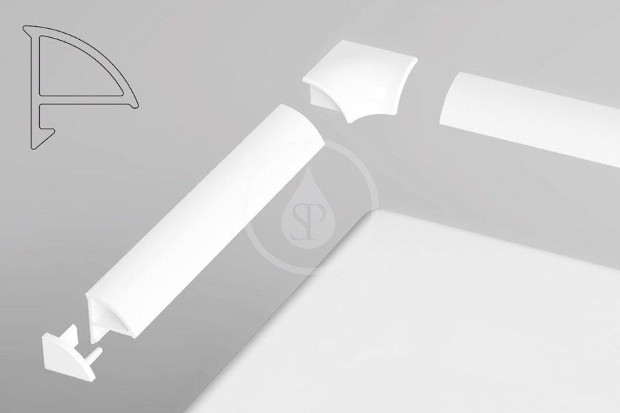 RAVAK - Příslušenství Sada pro krycí lištu 6, bílá (B440000001)