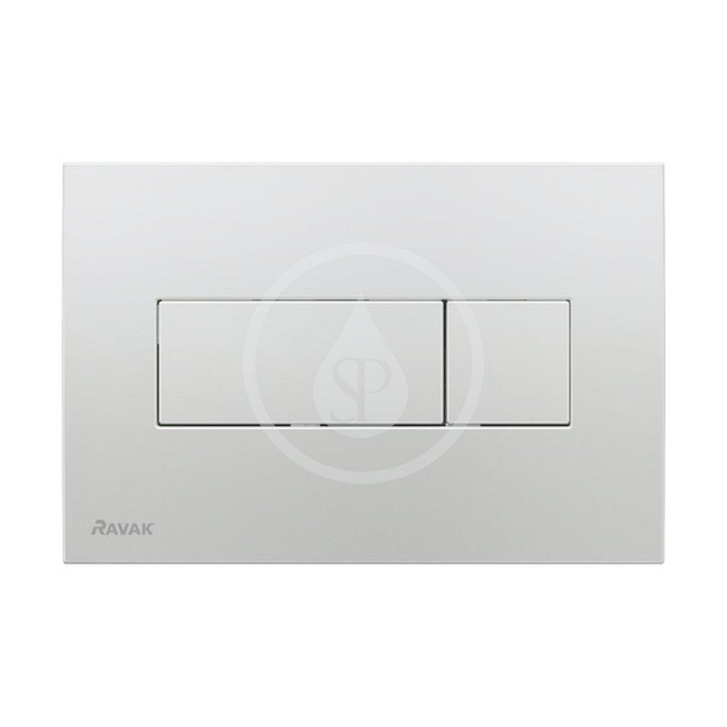 RAVAK - UNI Ovládací tlačítko pro WC, satin (X01456)