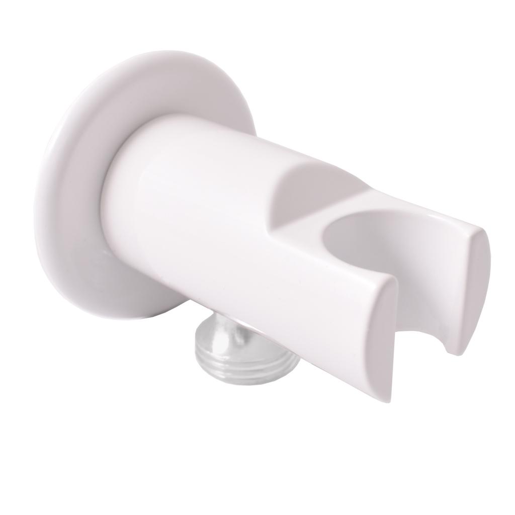 SLEZAK-RAV - Držák sprchy s vývodem pro hadici bílá, Barva: bílá (MD0614RB)