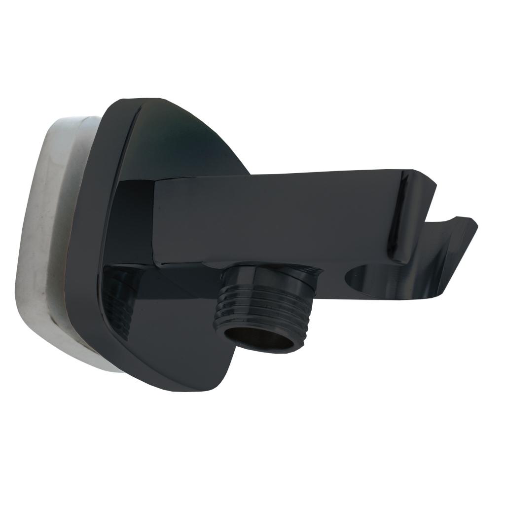 SLEZAK-RAV - Držák sprchy s vývodem pro hadici černá matná, Barva: černá matná (MD0615CMAT)