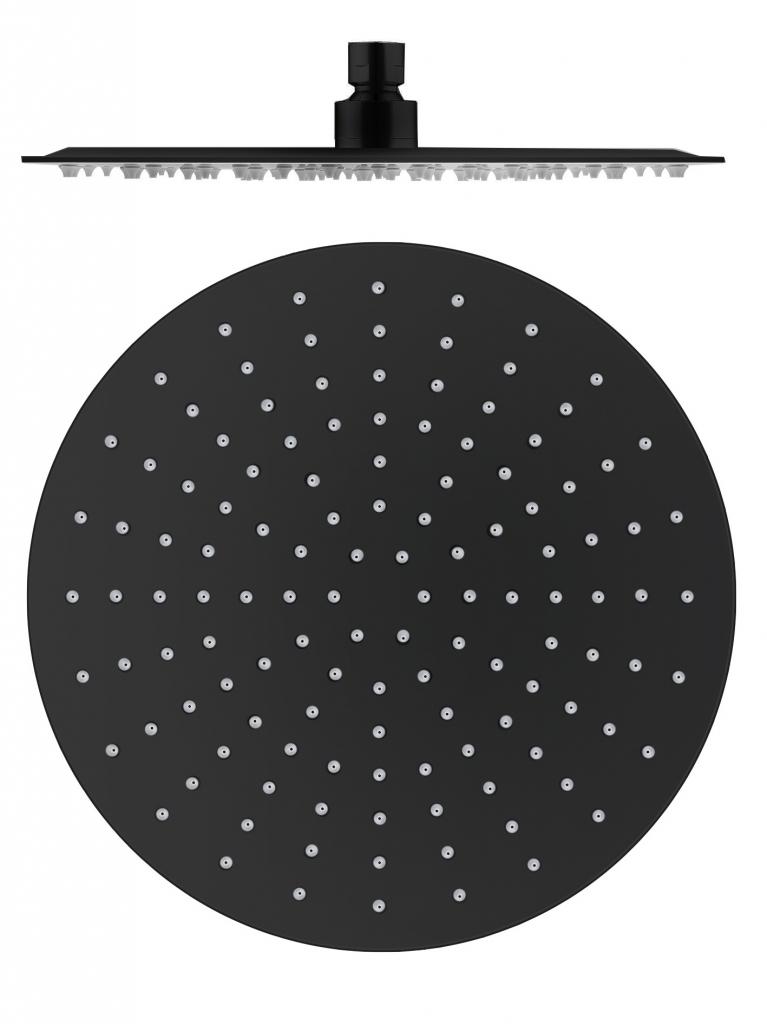 SLEZAK-RAV - Hlavová sprcha kulatá kovová ø 30 cm černá matná, Barva: černá matná (KS0001CMAT)