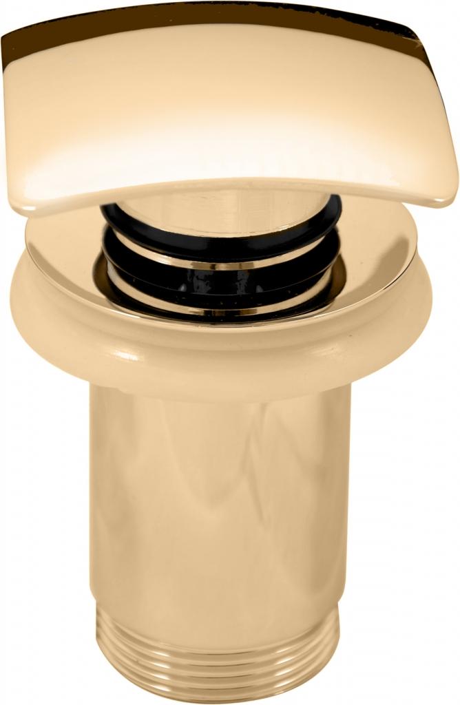 SLEZAK-RAV - Výpusť umyvadlová 5/4'' CLICK-CLACK zlato, Barva: zlato (MD0481Z)