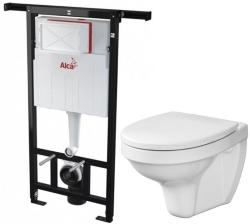 ALCAPLAST  Jádromodul - předstěnový instalační systém bez tlačítka + WC CERSANIT DELFI + SEDÁTKO (AM102/1120 X DE1)