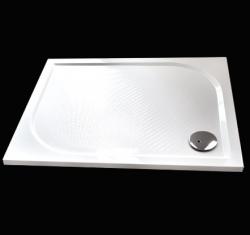 Aquatek - Bent 120x80cm sprchová vanička z litého mramoru obdélníková s protiskluzovou úpravou (BENT12080)