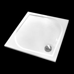 Aquatek - Bent 80x80cm sprchová vanička z litého mramoru čtvercová s protiskluzovou úpravou (BENT80CTV)