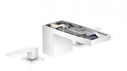 AXOR - MyEdition Umyvadlová baterie s výpustí Push-Open, 3-otvorová instalace, chrom/bez destičky (47052000)