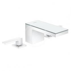 AXOR - MyEdition Umyvadlová baterie s výpustí Push-Open, 3-otvorová instalace, chrom/zrcadlové sklo (47050000)