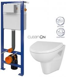 CERSANIT nádržka  AQUA 02 bez tlačítka + WC CERSANIT CLEANON PARVA + SEDÁTKO (S97-063 PA1)