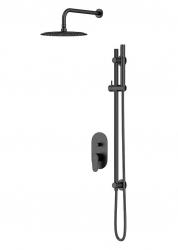 CERSANIT - Podomítkový sprchový set B261 INVERTO,černá + zlatá páčka (S952-006)