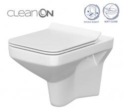 CERSANIT - SET 742 ZÁVĚSNÁ WC MÍSA COMO CLEANON SE SEDÁTKEM DUR ANTI SOFTCLOSE (K701-102)