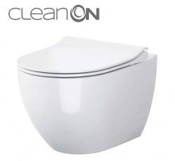 CERSANIT - SET B246 závěsná mísa ZEN CLEAN ON včetně dur. sedátka SLIM (S701-428)
