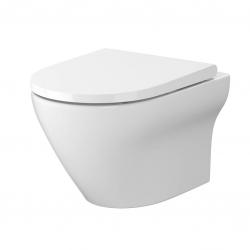 CERSANIT - SET B331 WC mísa LARGA OVAL Cleanon + sedátko SLIM (S701-472)