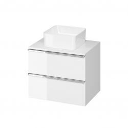 CERSANIT - Skříňka VIRGO 60 bílá pod umyvadlo na desku s chromovými úchyty (S522-040)