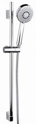 CERSANIT - Sprchová souprava s tyčí a posuvným držákem NENO, 5 funkční, průměr ruční sprchy 10cm, kovová hadice dlouhá 200cm, kovová tyč 80cm s posuvným držákem a montážní sadou (S951-019)
