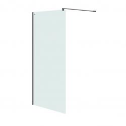 CERSANIT - Sprchová zástěna WALK-IN MILLE BLACK 100x200, čiré sklo (S161-003)