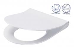 CERSANIT - WC sedátko CITY OVAL SLIM antib. OFF EASY jedno tlačítko  (K98-0146)