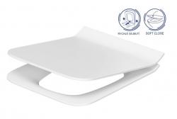 CERSANIT - WC sedátko Como SLIM DUROPLAST Antibe SOFT CLOSE OFF EASY jedno tlačítko (K98-0143)