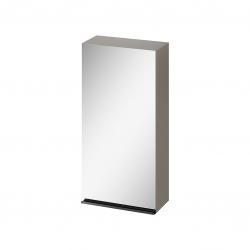 CERSANIT - Zrcadlová skříňka VIRGO 40 šedý dub s černými úchyty (S522-012)